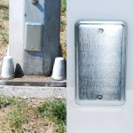Magnetic Electrical Utility Plate Geocache