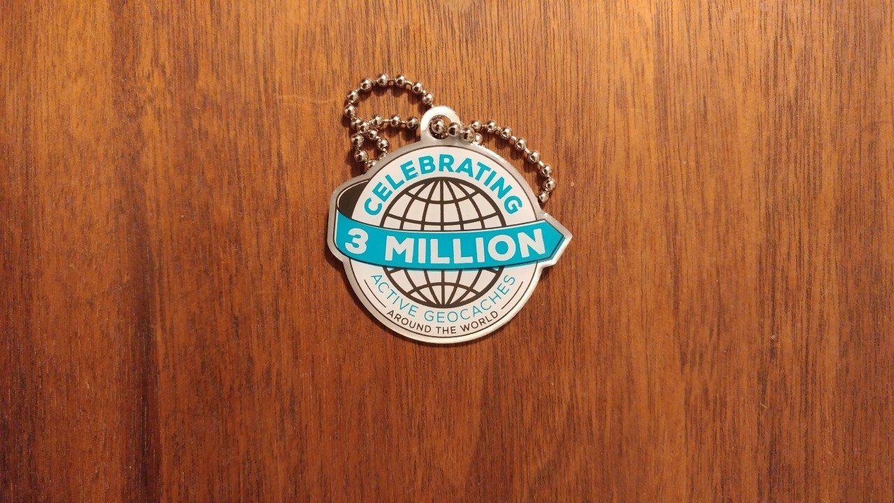Three Million Caches Trackable Front