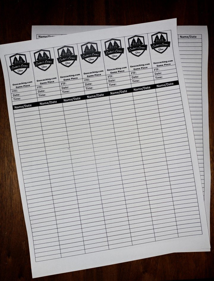photograph relating to Printable Geocaching Logs identified as Downloadable Geocaching Log Templates Cachers Corner