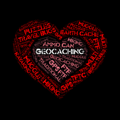 Geocaching Heart Word-Art
