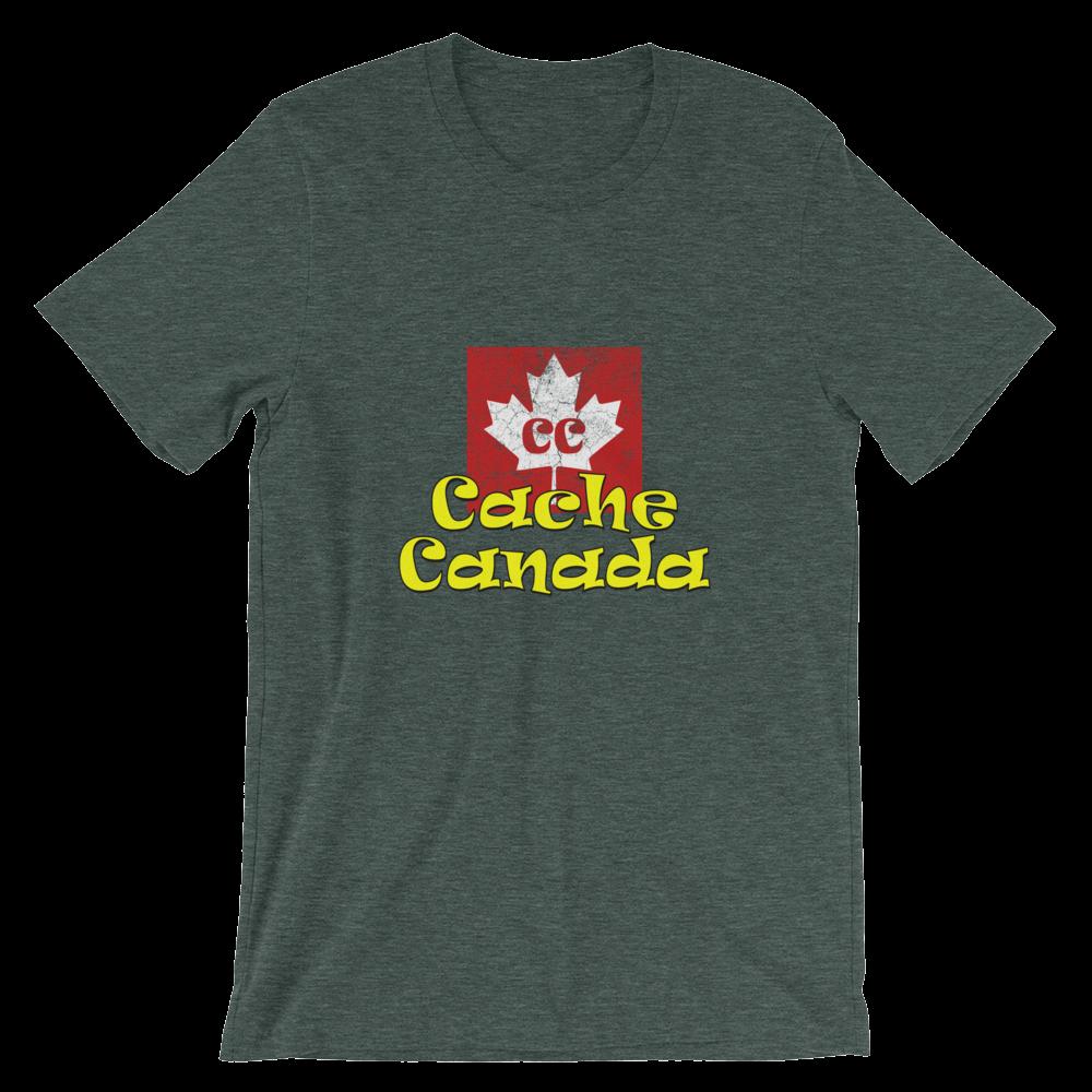e3c92323f Cache Canada Logo Shirt - Green Heather | Cacher's Corner Store ...