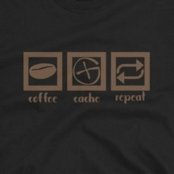 Coffee Cache Repeat Unisex Shirt