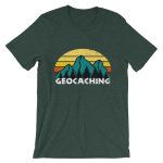 Geocaching Sunset Designer Unisex T-Shirt